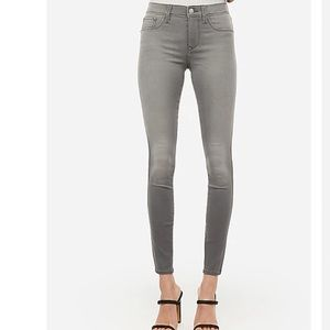 Express Gray Mid Rise Cropped Leggings Size 0
